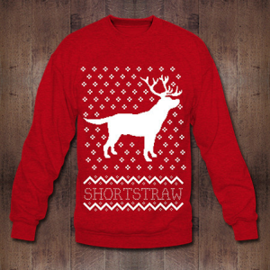 Shortstraw Christmas Deer Sweater